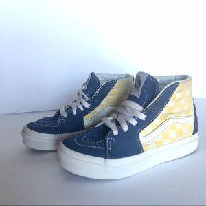 Vans Sk8 Hi BMX Blue Yellow Checkerboard Shoes 11